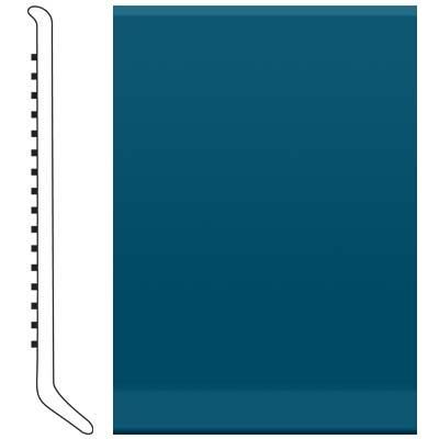 image of Roppe 4 Inch 1/8 Vinyl Cove Base Blue Vinyl Flooring