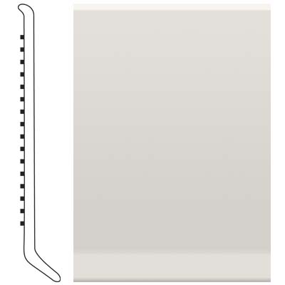 image of Roppe 4 Inch 1/8 Vinyl Cove Base White Vinyl Flooring