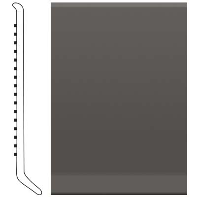 image of Roppe 6 Inch 1/8 Vinyl Cove Base Burnt Umber Vinyl Flooring