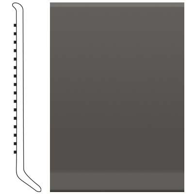 image of Roppe 2.5 Inch 1/8 Vinyl Cove Base Burnt Umber Vinyl Flooring