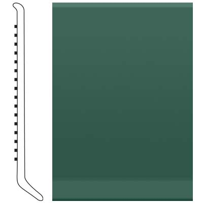 image of Roppe 2.5 Inch 1/8 Vinyl Cove Base Forest Green Vinyl Flooring