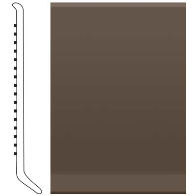 image of Roppe 2.5 Inch 1/8 Vinyl Cove Base Light Brown Vinyl Flooring