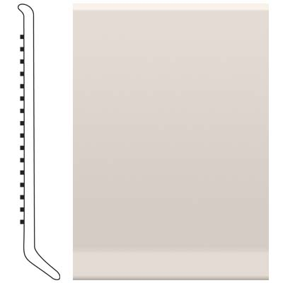 image of Roppe 2.5 Inch 1/8 Vinyl Cove Base Natural Vinyl Flooring