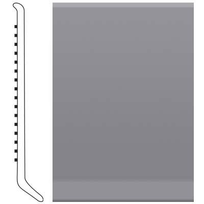 image of Roppe 2.5 Inch 1/8 Vinyl Cove Base Steel Gray Vinyl Flooring
