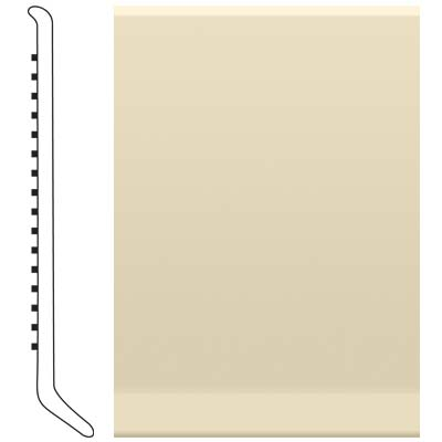 image of Roppe 2.5 Inch 0.080 Vinyl Cove Base Almond Vinyl Flooring