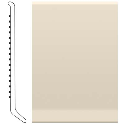 image of Roppe 2.5 Inch 0.080 Vinyl Cove Base Bisque Vinyl Flooring