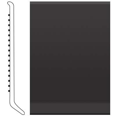 image of Roppe 2.5 Inch 0.080 Vinyl Cove Base Black Vinyl Flooring