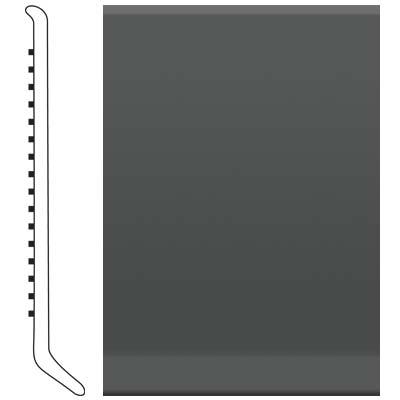 image of Roppe 2.5 Inch 0.080 Vinyl Cove Base Black/Brown Vinyl Flooring