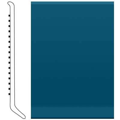 image of Roppe 2.5 Inch 0.080 Vinyl Cove Base Blue Vinyl Flooring