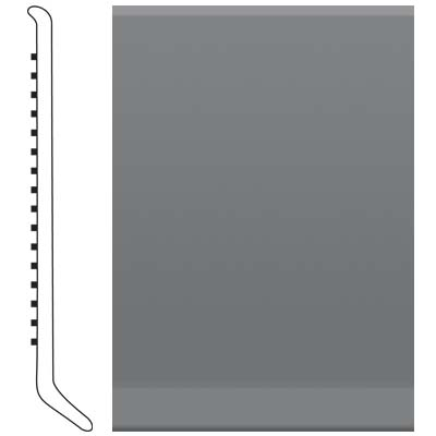 image of Roppe 2.5 Inch 0.080 Vinyl Cove Base Charcoal Vinyl Flooring