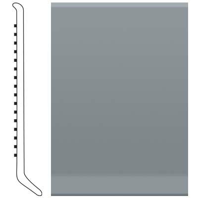 image of Roppe 2.5 Inch 0.080 Vinyl Cove Base Dark Gray Vinyl Flooring