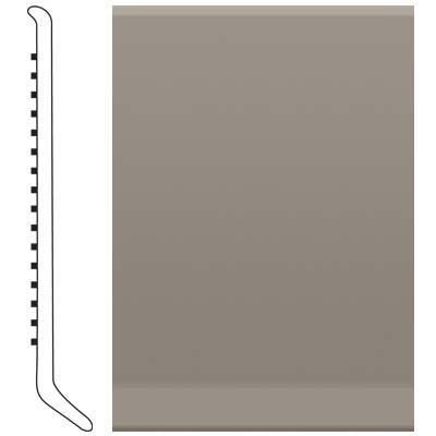 image of Roppe 2.5 Inch 0.080 Vinyl Cove Base Pewter Vinyl Flooring