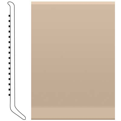 image of Roppe 4 Inch 0.080 Vinyl Cove Base Camel Vinyl Flooring