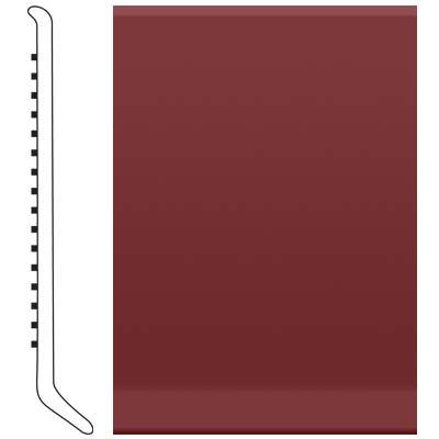 image of Roppe 6 Inch 0.080 Vinyl Cove Base Cinnabar Vinyl Flooring