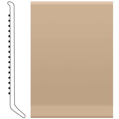 image of Roppe Ready Base 4 inch Light Khaki Vinyl Flooring