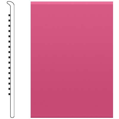 image of Roppe 2.5 Inch 0.080 Vinyl No Toe Base Azalea Vinyl Flooring