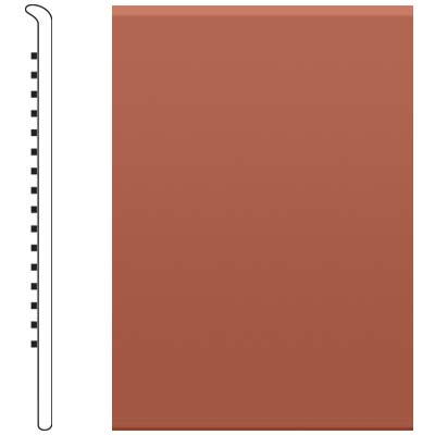 image of Roppe 2.5 Inch 0.080 Vinyl No Toe Base Brick Vinyl Flooring