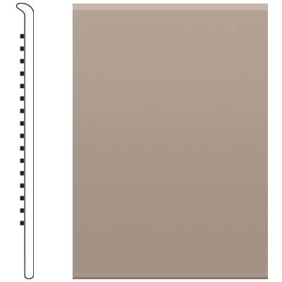 image of Roppe 2.5 Inch 0.080 Vinyl No Toe Base Fawn Vinyl Flooring