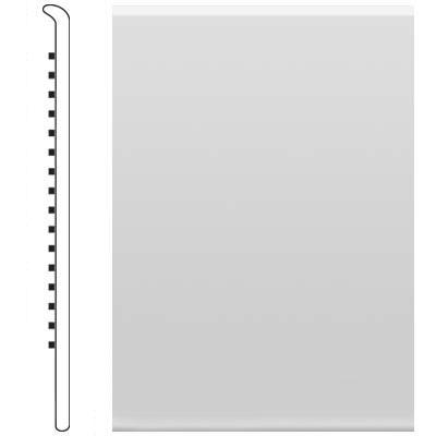 image of Roppe 2.5 Inch 0.080 Vinyl No Toe Base Iceberg Vinyl Flooring