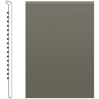 image of Roppe 2.5 Inch 0.080 Vinyl No Toe Base Lunar Dust Vinyl Flooring