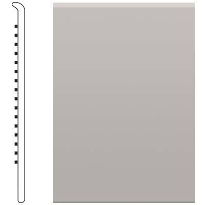 image of Roppe 2.5 Inch 0.080 Vinyl No Toe Base Smoke Vinyl Flooring
