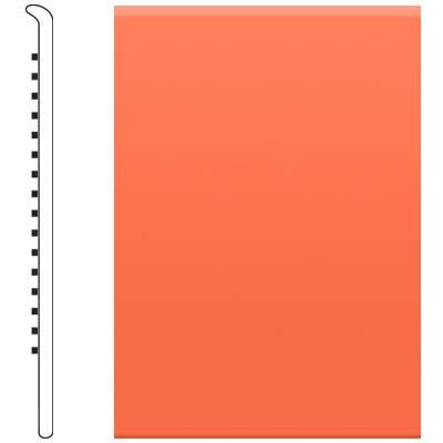 image of Roppe 2.5 Inch 0.080 Vinyl No Toe Base Tangerine Vinyl Flooring