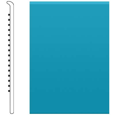 image of Roppe 2.5 Inch 0.080 Vinyl No Toe Base Tropical Blue Vinyl Flooring