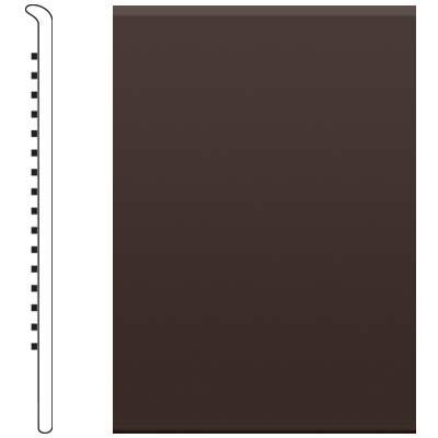 image of Roppe 2.5 Inch 1/8 Vinyl No Toe Base Brown Vinyl Flooring