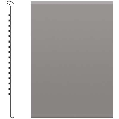 image of Roppe 2.5 Inch 1/8 Vinyl No Toe Base Slate Vinyl Flooring