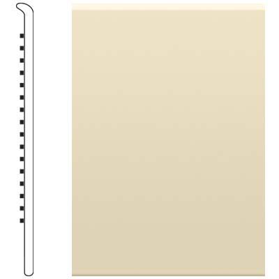 image of Roppe 4 Inch 0.080 Vinyl No Toe Base Almond Vinyl Flooring