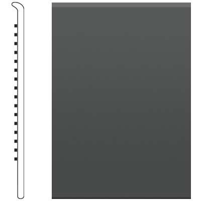 image of Roppe 4 Inch 1/8 Vinyl No Toe Base Black/Brown Vinyl Flooring