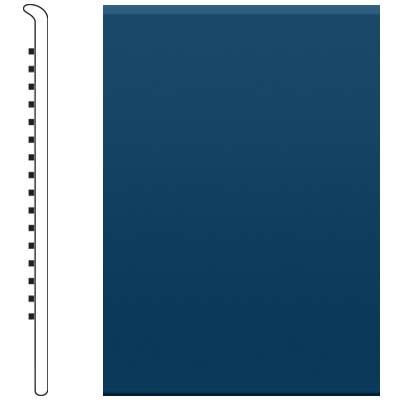 image of Roppe 4 Inch 1/8 Vinyl No Toe Base Deep Navy Vinyl Flooring