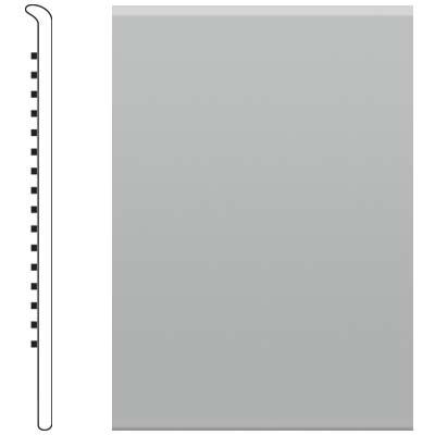 image of Roppe 4 Inch 1/8 Vinyl No Toe Base Light Gray Vinyl Flooring