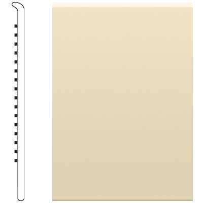image of Roppe 6 Inch 0.080 Vinyl No Toe Base Almond Vinyl Flooring