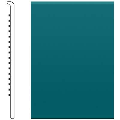 image of Roppe 4 Inch 0.080 Vinyl No Toe Base Peacock Vinyl Flooring