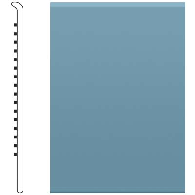 image of Roppe 4 Inch 0.080 Vinyl No Toe Base Salem Blue Vinyl Flooring
