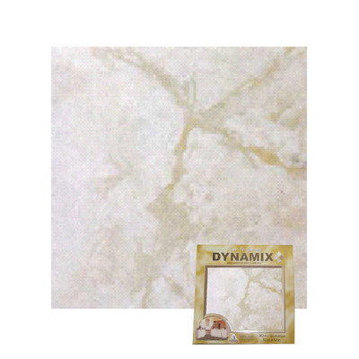 "image of Home Dynamix 12"" x 12"" Vinyl Tile in White Marble Quantity: 30 Pieces"