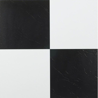 "image of Nexus 12"" x 12"" Vinyl Tile in Black and White"