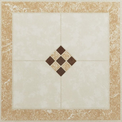 "image of Nexus 12"" x 12"" Vinyl Tile in Ceramic Rose and Cream"