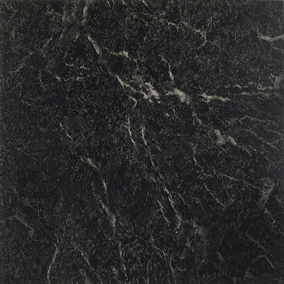 "image of Nexus 12"" x 12"" Vinyl Tile in Black With White Vein Marble"