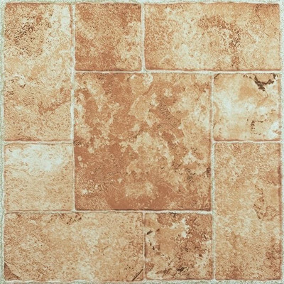 "image of Nexus 12"" x 12"" Vinyl Tile in Beige Terracotta"
