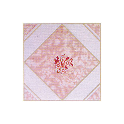 """image of Home Dynamix 12"""" x 12"""" Vinyl Tile in Pink Flower Quantity: 30 Pieces"""